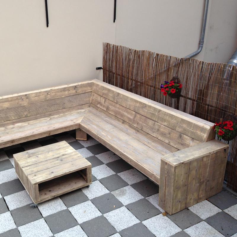 Hoekbank tuin hout